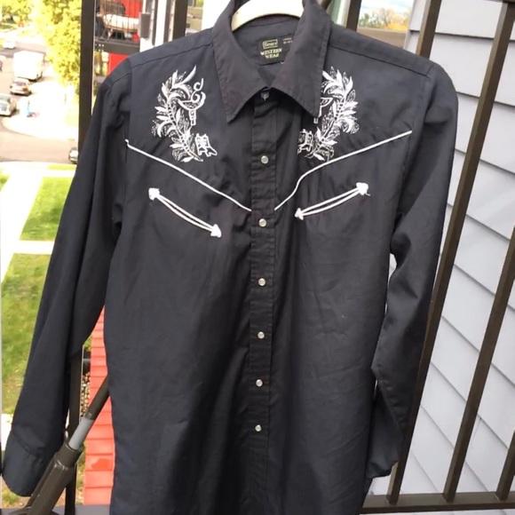 Vintage 1970s sears western wear cowboy shirt